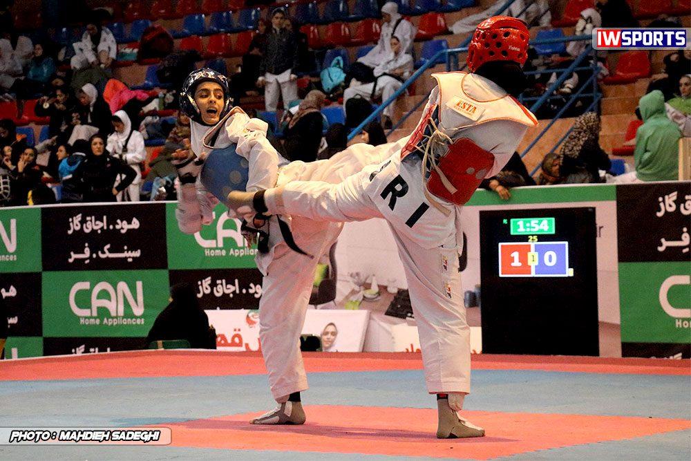 مسابقات تکواندوی آزاد کشور آذر 97 4 1000x667 گزارش تصویری مسابقات تکواندوی آزاد بانوان کشور / بخش اول
