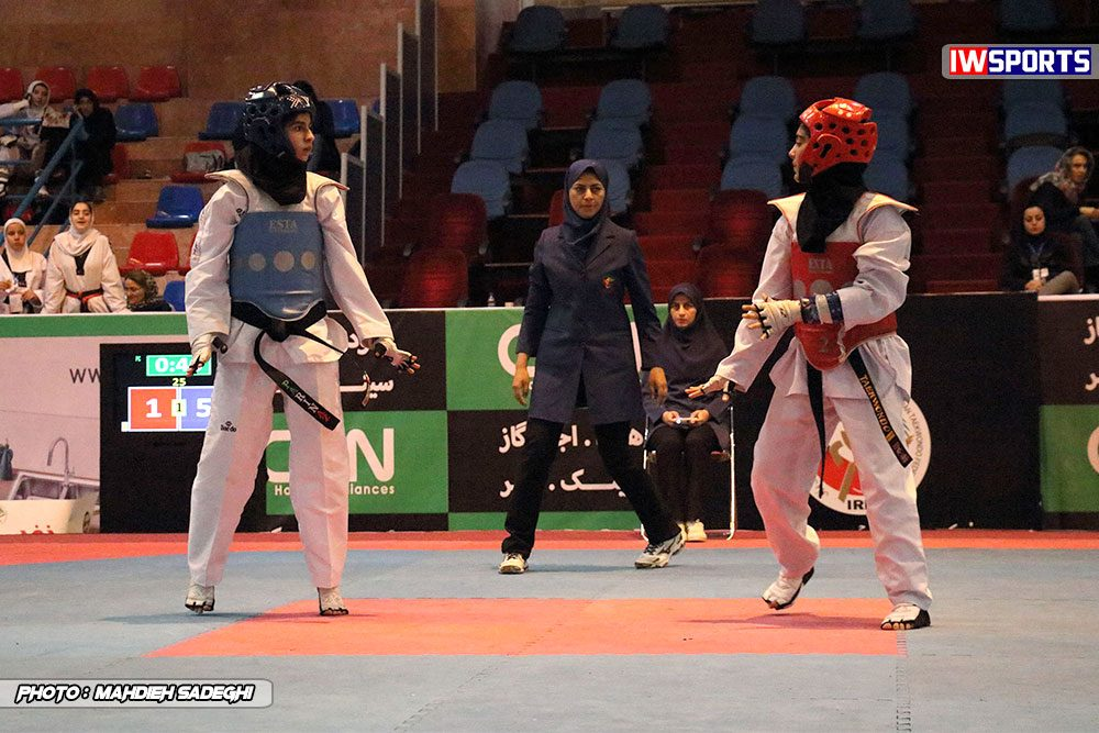 مسابقات تکواندوی آزاد کشور آذر 97 9 1000x667 گزارش تصویری مسابقات تکواندوی آزاد بانوان کشور / بخش اول