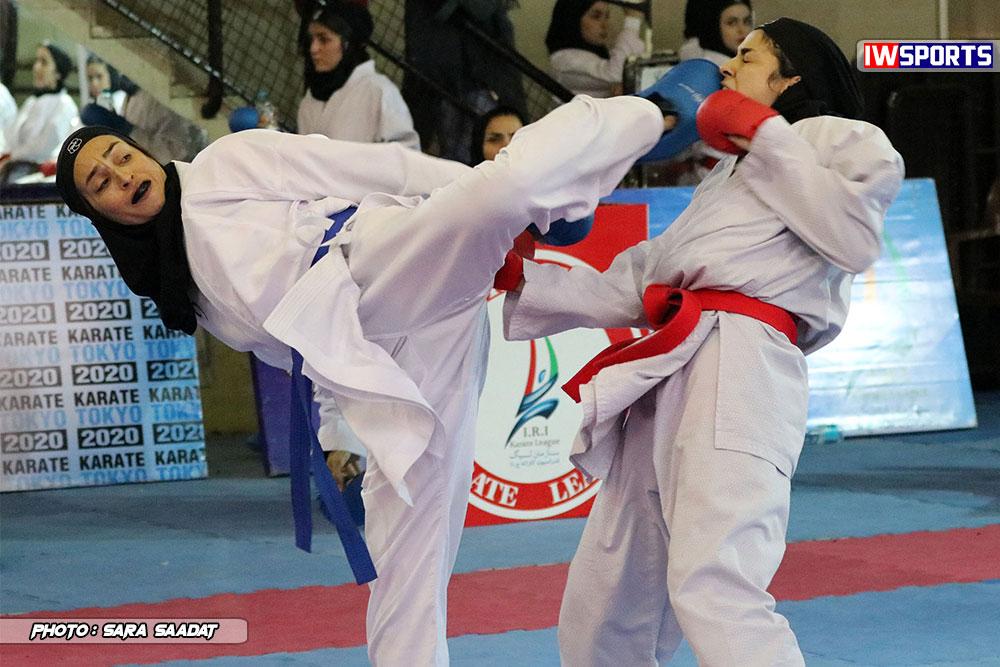 هفته دوم سوپر لیگ کاراته بانوان ؛  صدرنشینی جوانه صفادشت و مرداس قم