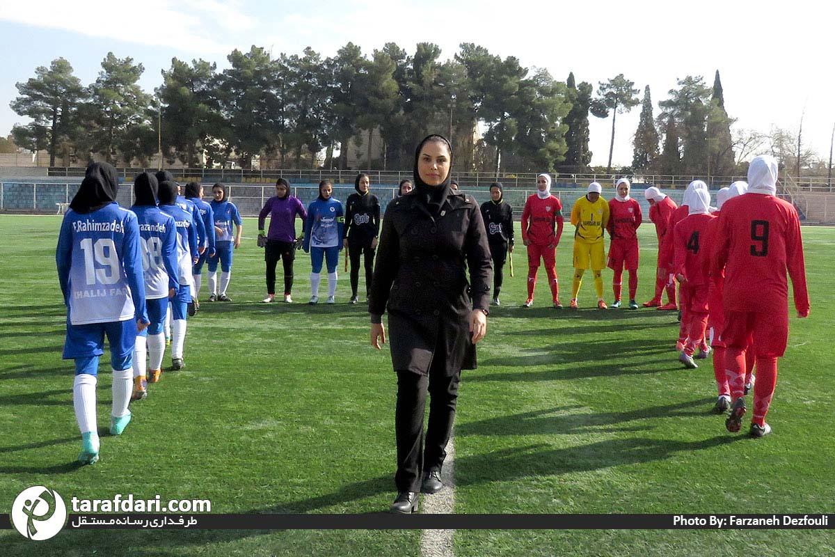 گزارش تصویری دیدار خلیج فارس شیراز و شهرداری بم در لیگ برتر فوتبال بانوان