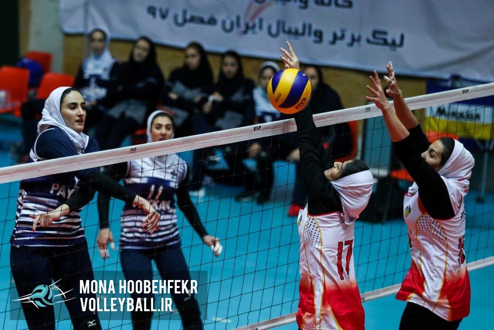 لیگ برتر والیبال بانوان هفته هشتم پیکان 3 توپکای بابلسر صفر Iran volleyball womens league هفته هشتم لیگ برتر والیبال بانوان ؛ سبقت ذوب آهن از پیکان با تفاضل پوئن