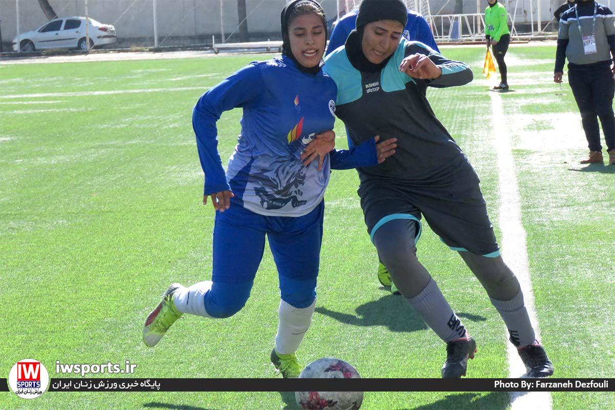 گزارش تصویری دیدار تیم های خلیج فارس شیراز و پارس جنوبی بوشهر در لیگ برتر فوتبال بانوان