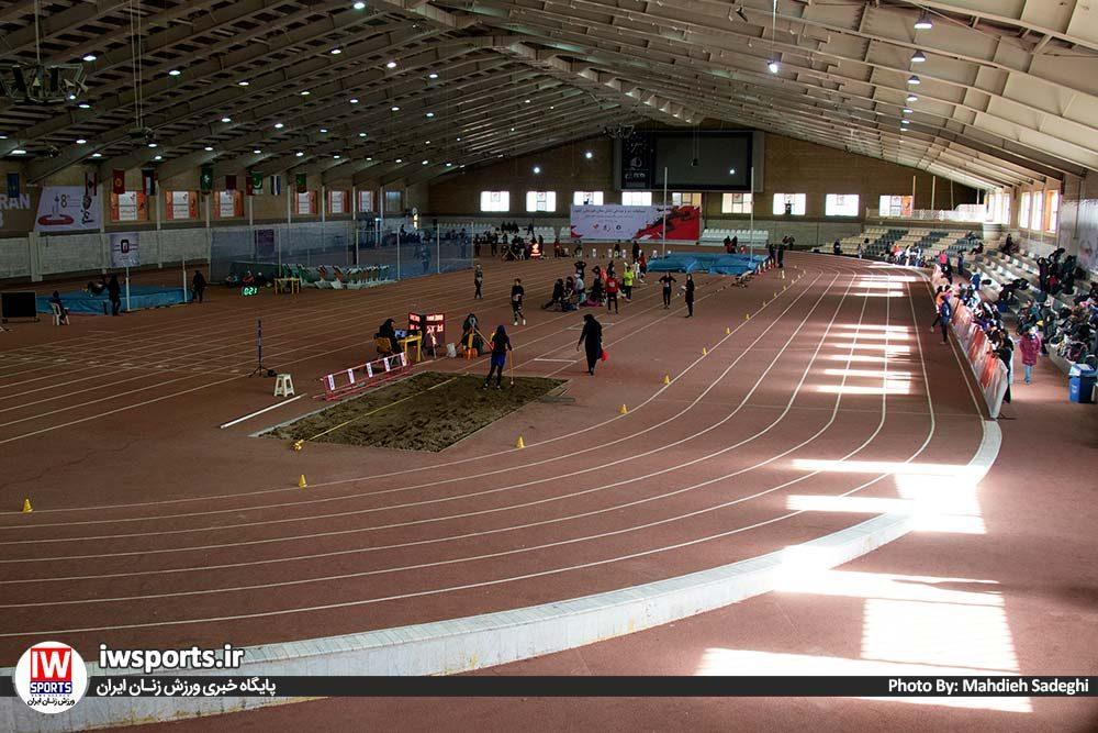 دو و میدانی بانوان داخل سالن کشور بهمن 97 1 1000x667 گزارش تصویری مسابقات دو و میدانی داخل سالن بانوان کشور