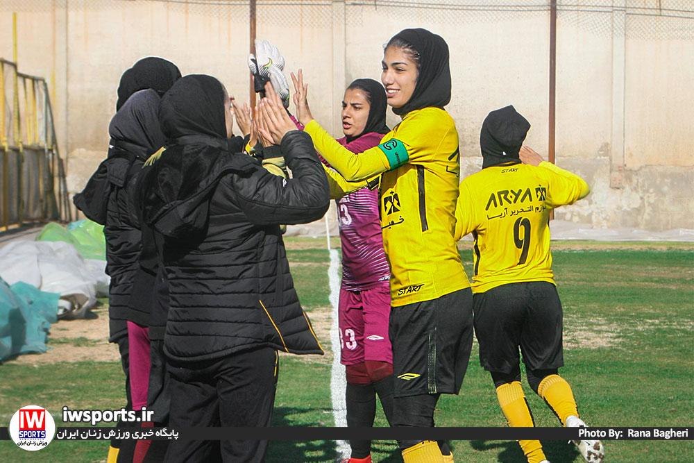 گزارش تصویری دیدار سپاهان اصفهان و خلیج فارس شیراز در لیگ برتر فوتبال بانوان