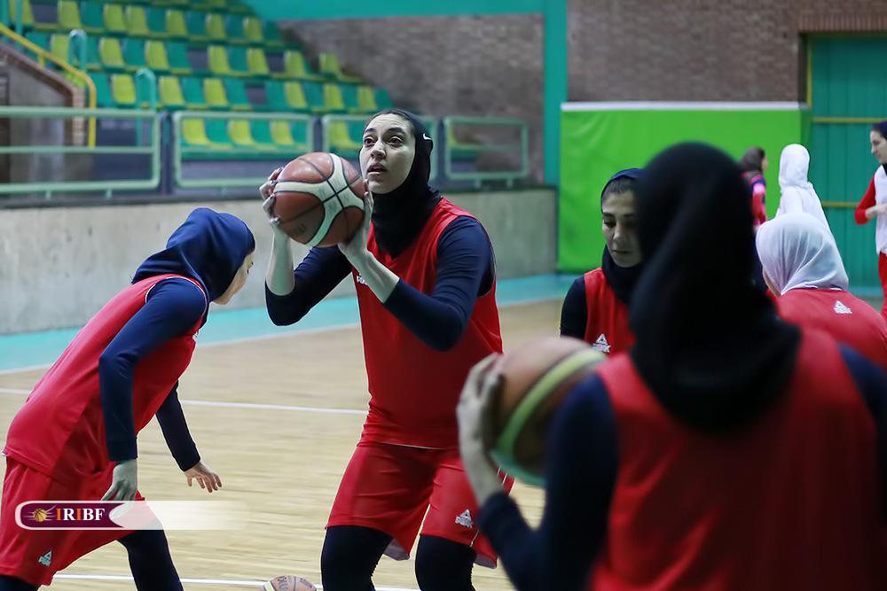 تمرین تیم ملی بسکتبال بانوان به روایت تصویر