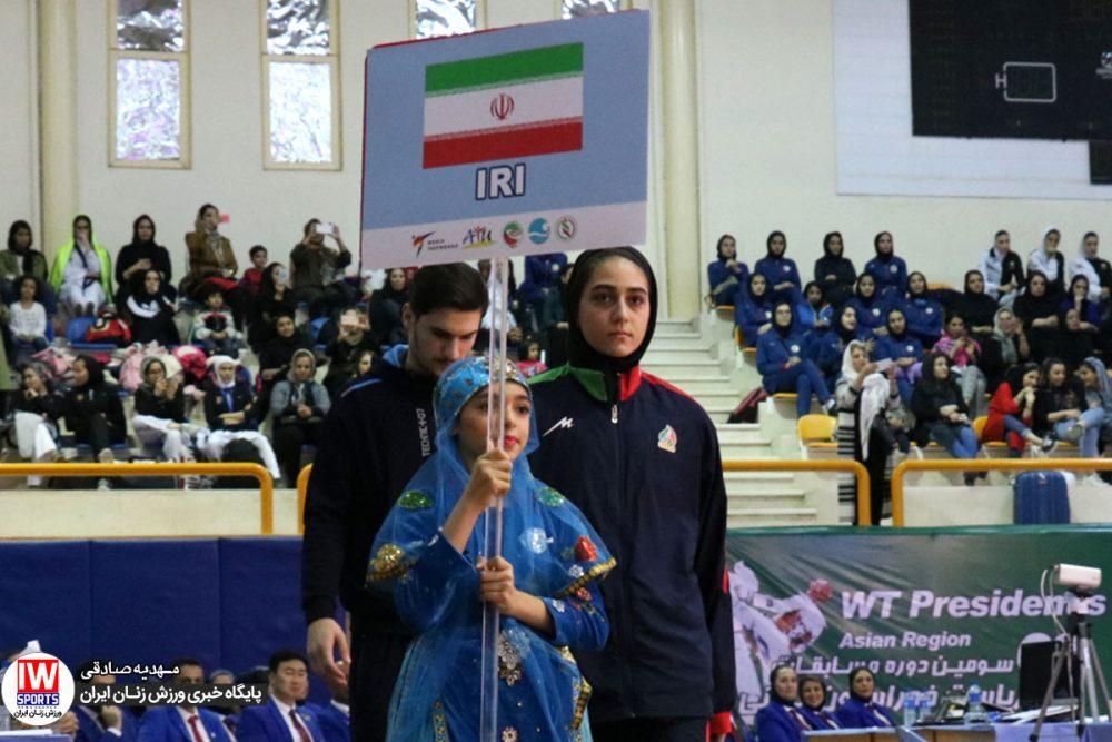 تکواندو جام ریاست فدراسیون جهانی کیش ملیکا میرحسینی 1000x667 مسابقات تکواندوی جام ریاست فدراسیون جهانی در کیش به روایت تصویر
