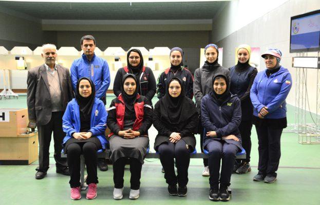 تیم تیراندازی نزاجا در لیگ برتر تیراندازی بانوان 623x400 هفته پایانی لیگ برتر تیراندازی بانوان به روایت تصویر