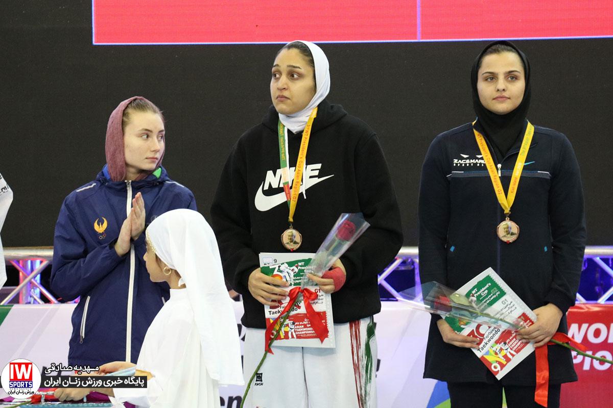 زهرا پور اسماعیل در مسابقات کیش تکواندو جام ریاست فدراسیون جهانی در کیش؛ پایان کار ایران با رتبه چهارم