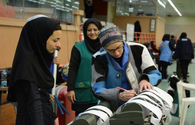 هفته پایانی لیگ برتر تیراندازی زنان 623x400 هفته پایانی لیگ برتر تیراندازی بانوان به روایت تصویر