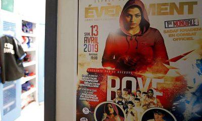 تصویر صدف خادم در پوستر مبارزه بوکس او در فرانسه 400x240 ویدئو   لحظاتی از مبارزه بوکس صدف خادم و حریف فرانسوی