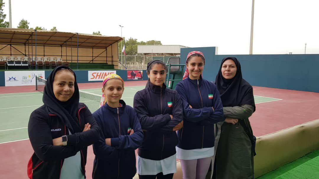ایران قهرمان تنیس دختران زیر ۱۲ سال غرب آسیا شد