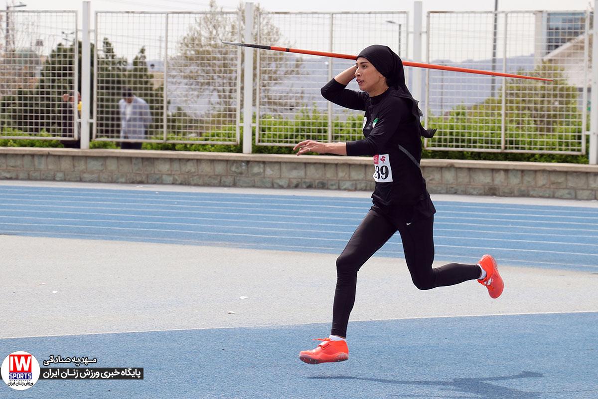 مسابقات انتخابی تیم ملی دو و میدانی بانوان به روایت تصویر