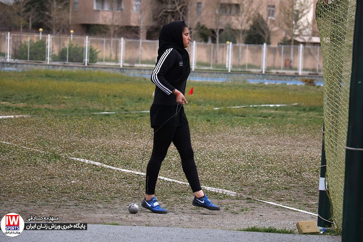 زهرا عرب رستمی : به شکستن رکورد ملی پرتاب چکش ایمان دارم