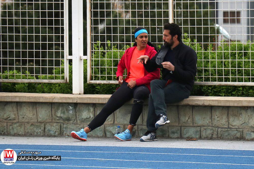 سپیده توکلی و محسن ربانی 1000x667 مسابقات انتخابی تیم ملی دو و میدانی بانوان به روایت تصویر