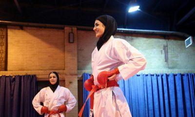 شیما آل سعدی تیم ملی کاراته بانوان 400x240 شگفتی کامل نشد | شیما آل سعدی مدال نقره کاراته وان دوبی را به دست آورد