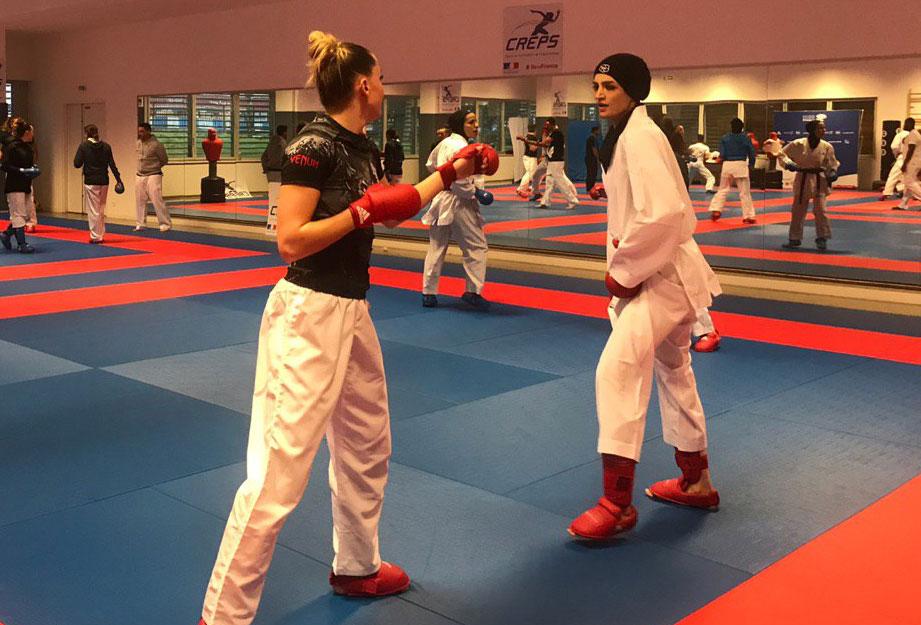شیما آل سعدی در اردوی تیم ملی کاراته بانوان در پاریس همه چیز درباره شیما آل سعدی | زندگی دختر آرام شیراز ؛ از معادلات شیمی تا تیم ملی کاراته
