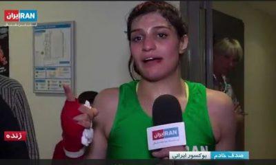 صدف خادم 2 400x240 ویدئو   صدف خادم پس از پیروزی در فرانسه : المپیک می بینمتون