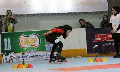 لعیا عربی اسکیت بانوان فری استایل 400x240 انتخابی تیم ملی اسکیت اسپید اسلالوم | رومینا سالک و لعیا عربی قهرمان شدند