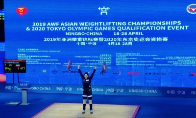 مرضیه قنبری وزنه برداری بانوان 400x240 وزنه برداری قهرمانی آسیا   مرضیه قنبری در جایگاه نهم دسته ۷۶ کیلوگرم