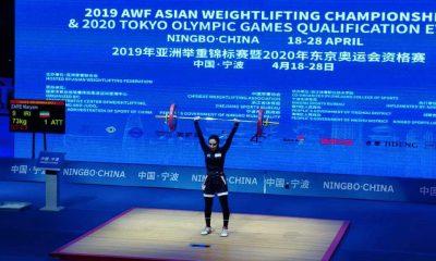 مریم زارع 400x240 وزنه برداری قهرمانی آسیا | مریم زارع هشتم شد