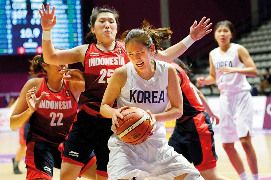 حضور تیم مشترک کره جنوبی و شمالی در مسابقات بسکتبال زنان آسیا