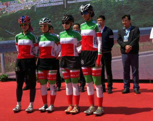 تیم ملی دوچرخه سواری بانوان در چین نگاهی بر حضور دختران دوچرخه سوار ایران در چین (تصاویر)