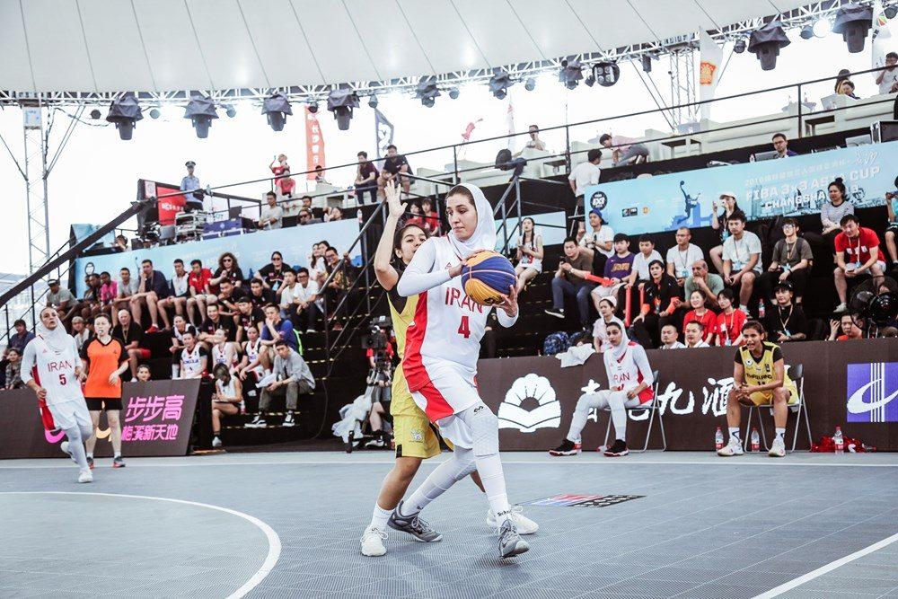 دلارام وکیلی مسابقات بسکتبال سه نفره کاپ آسیا در چین 1000x667 تصاویر | دیدار بسکتبال ۳ نفره بانوان ایران و تایلند در کاپ آسیا
