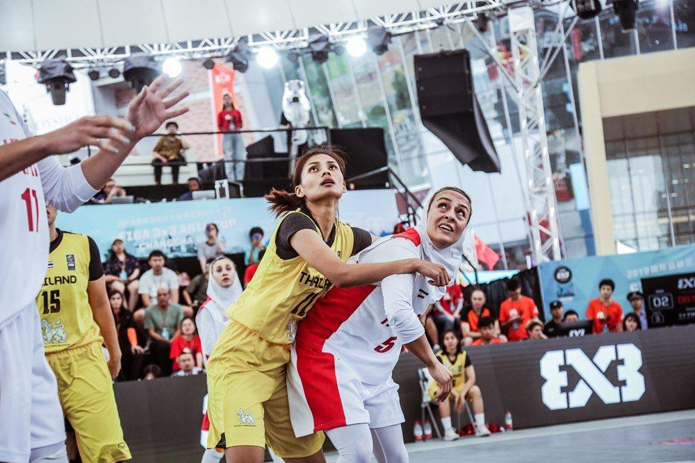 دیدار ایران و تایلند در مسابقات بسکتبال سه نفره بانوان آسیا 1 1000x667 تصاویر | دیدار بسکتبال ۳ نفره بانوان ایران و تایلند در کاپ آسیا