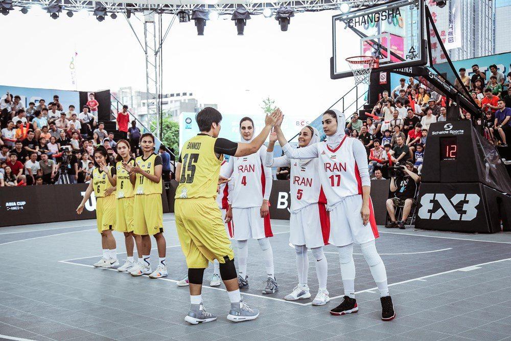 دیدار ایران و تایلند در مسابقات بسکتبال سه نفره بانوان آسیا 2 1000x667 تصاویر   دیدار بسکتبال ۳ نفره بانوان ایران و تایلند در کاپ آسیا