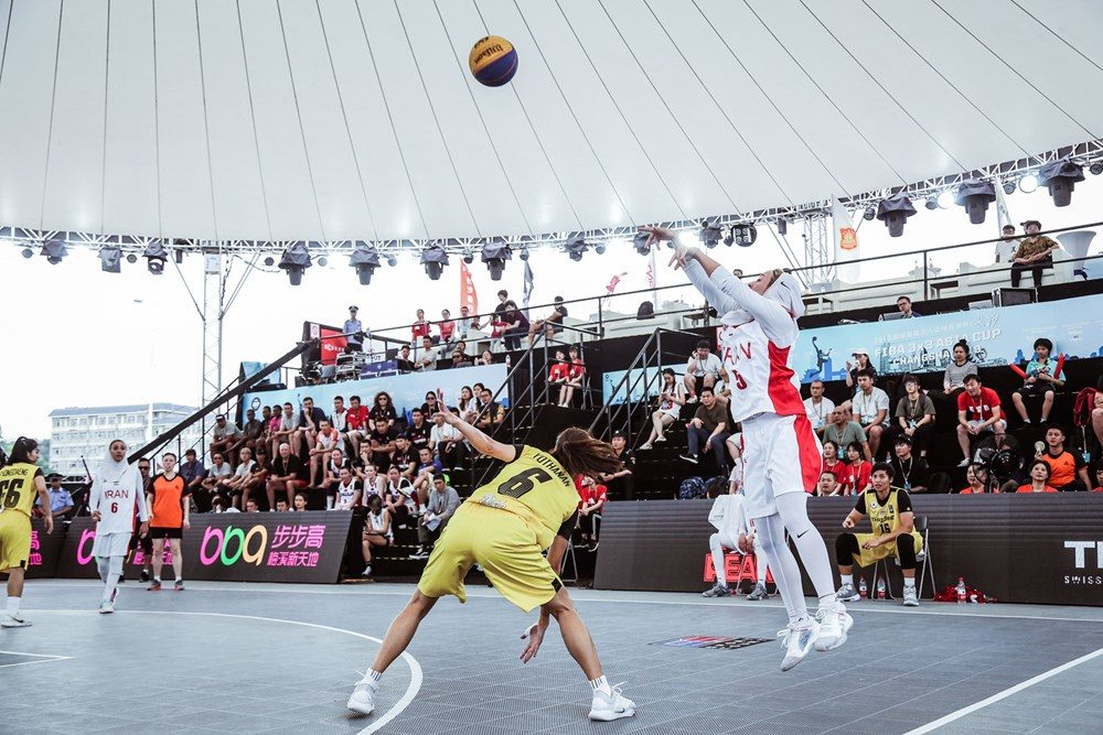 دیدار ایران و تایلند در مسابقات بسکتبال سه نفره بانوان آسیا 4 1000x667 تصاویر | دیدار بسکتبال ۳ نفره بانوان ایران و تایلند در کاپ آسیا
