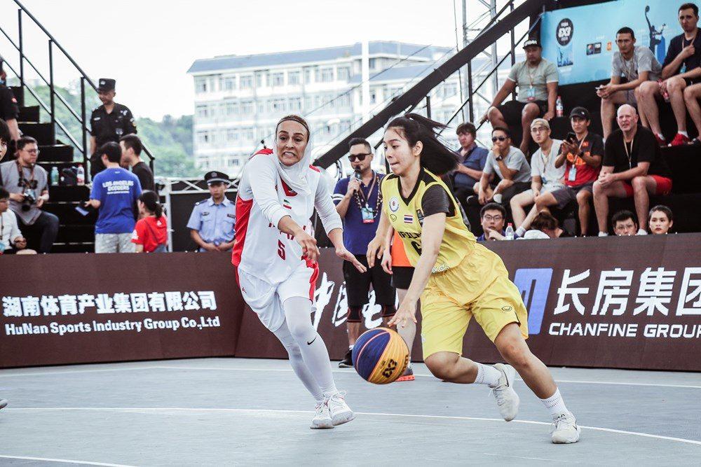 دیدار ایران و تایلند در مسابقات بسکتبال سه نفره بانوان آسیا 5 1000x667 تصاویر   دیدار بسکتبال ۳ نفره بانوان ایران و تایلند در کاپ آسیا