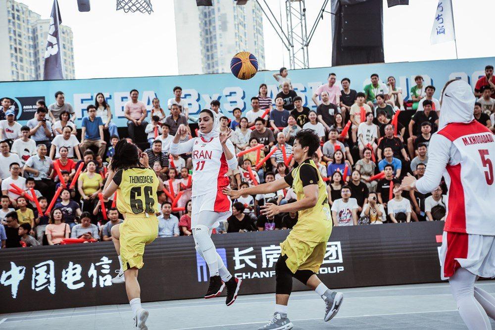 دیدار ایران و تایلند در مسابقات بسکتبال سه نفره بانوان آسیا 7 1000x667 تصاویر | دیدار بسکتبال ۳ نفره بانوان ایران و تایلند در کاپ آسیا