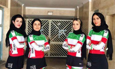 سمیه یزدانی غزاله درخشان فروزان عبداللهی مریم جلالیه تیم ملی دوچرخه سواری بانوان در تور چین 400x240 نگاهی بر حضور دختران دوچرخه سوار ایران در چین (تصاویر)