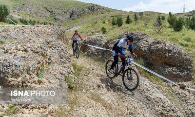 مرحله اول لیگ دوچرخه سواری کوهستان در کرج 6 400x240 تصاویر لیگ دوچرخه سواری دانهیل و کراس کانتری بانوان در باغستان