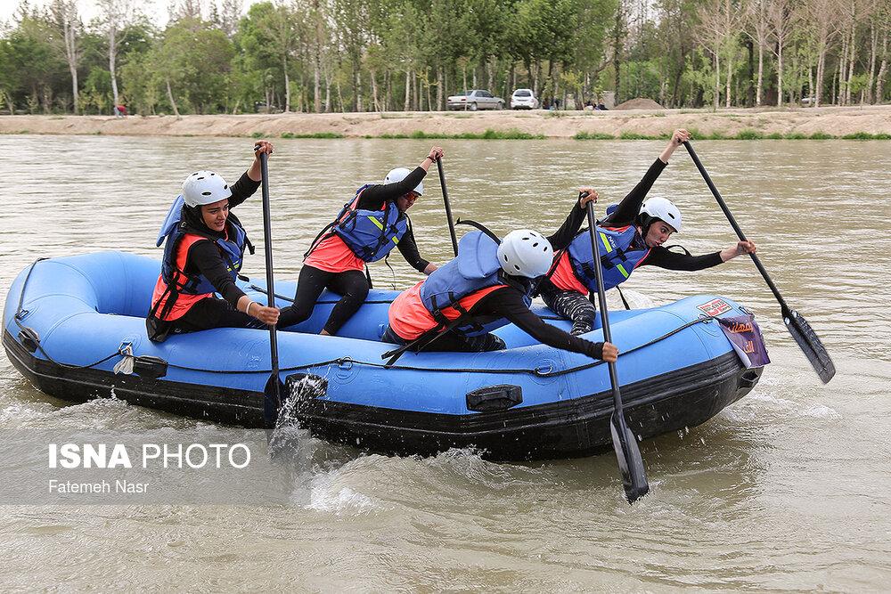 مسابقات انتخابی تیم ملی قایقرانی رفتینگ بانوان به روایت تصویر