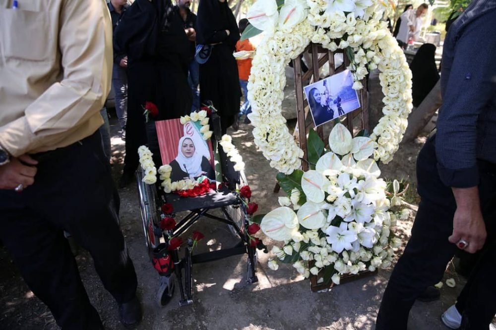 1312 1000x666 گزارش تصویری | مراسم خاکسپاری راضیه شیرمحمدی؛ مدال آور پارالمپیک و پاراآسیایی ایران