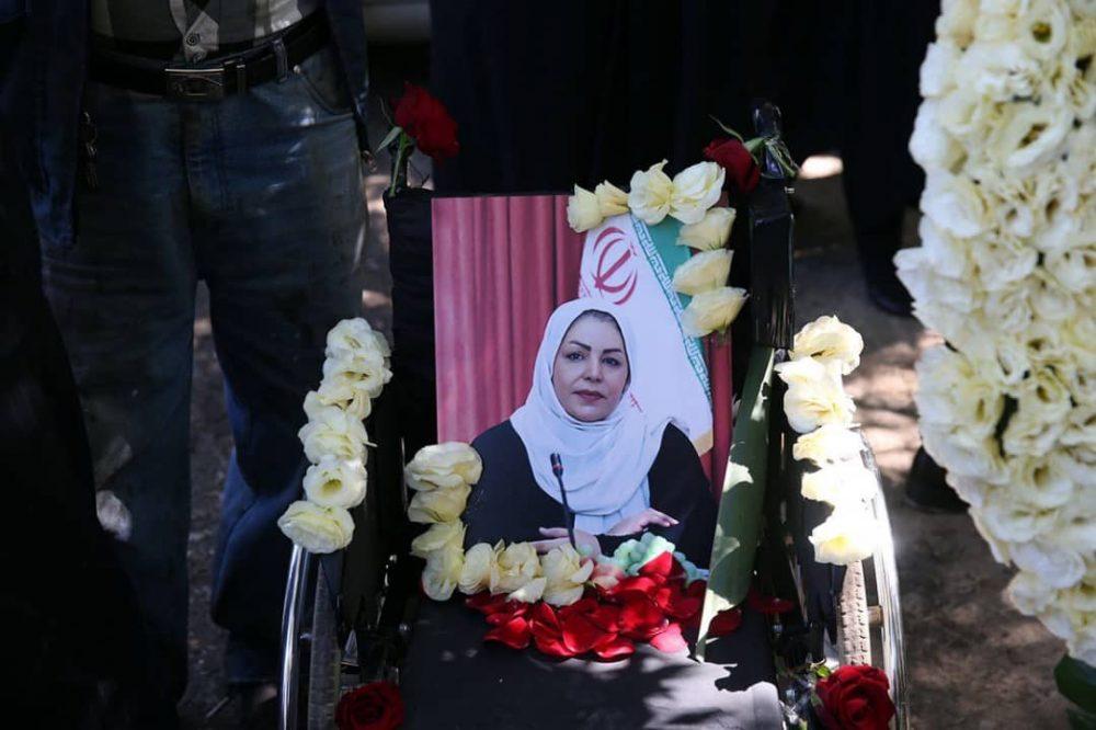 2 1 1000x666 گزارش تصویری | مراسم خاکسپاری راضیه شیرمحمدی؛ مدال آور پارالمپیک و پاراآسیایی ایران