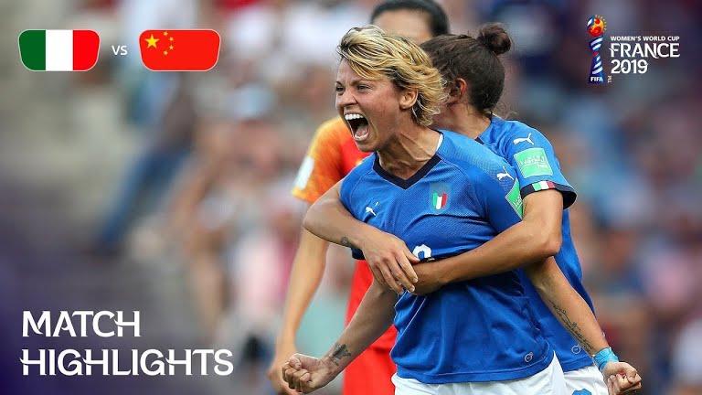 ویدئو | ایتالیا ۲-۰ چین | جام جهانی فوتبال زنان