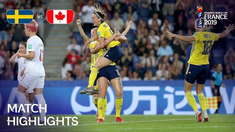 ویدئو | سوئد ۱-۰ کانادا | جام جهانی فوتبال زنان