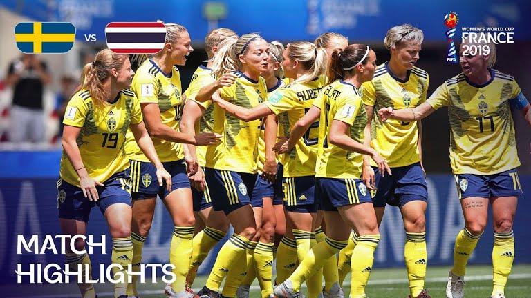 ویدئو | سوئد 5-1 تایلند | جام جهانی فوتبال زنان