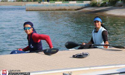 تمرین تیم ملی قایقرانی کایاک بانوان آرزو حکیمی و هدیه کاظمی 400x240 مسابقات آب های آرام قهرمانی جهان | تلاش نافرجام حکیمی و کاظمی برای رسیدن به نیمه نهایی