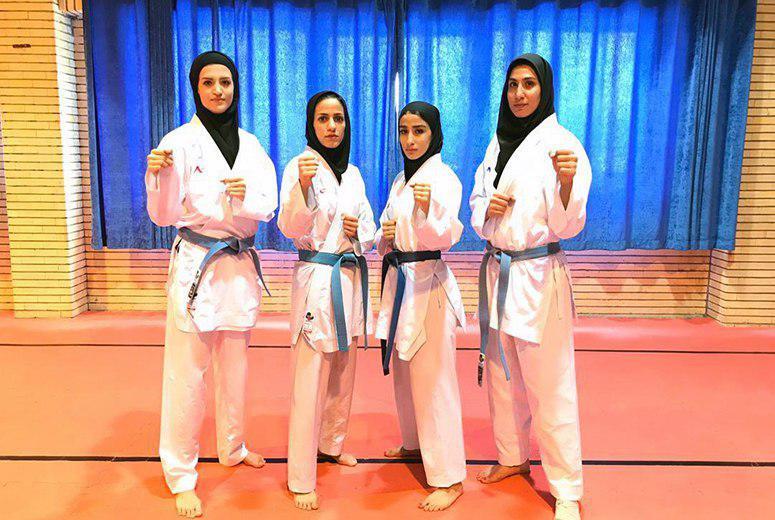 تیم ملی کاراته بانوان ایران در مسابقات قهرمانی آسیا