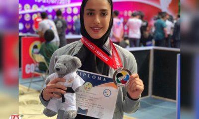 فاطمه صادقی تیم ملی کاتای بانوان 400x240 ویدئو | اجرای کاتای فاطمه صادقی و برنز قهرمانی آسیا در ازبکستان