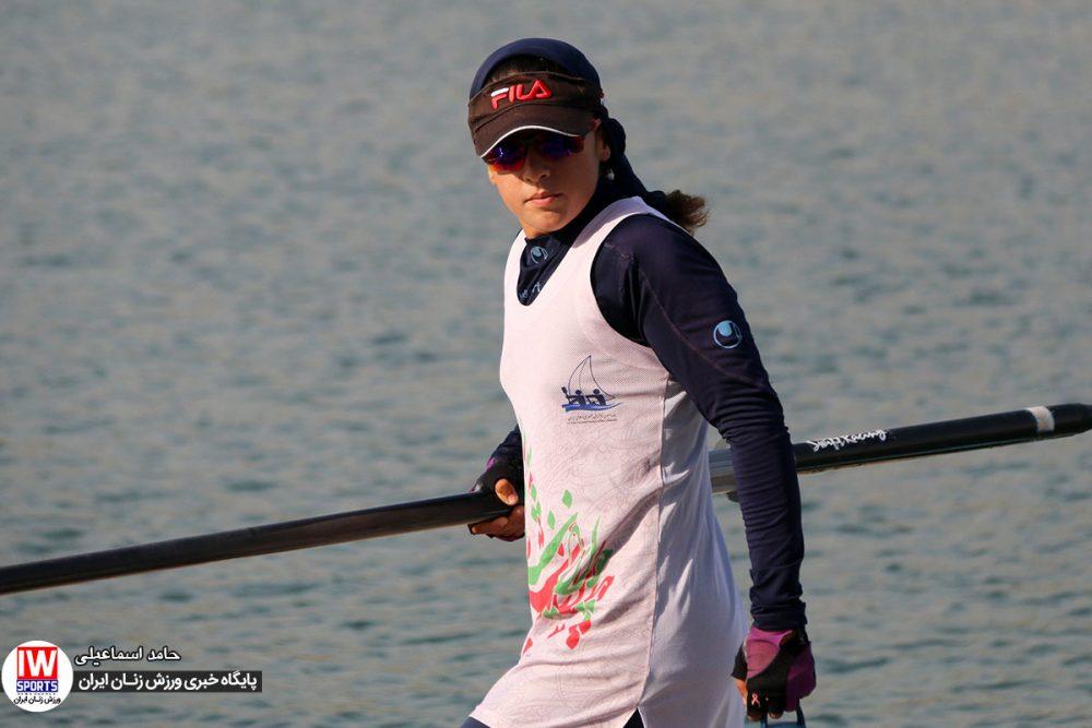 هانیه بیداد تیم ملی قایقرانی رویینگ 1000x667 گزارش تصویری   تمرین تیمهای ملی قایقرانی رویینگ و آبهای آرام بانوان