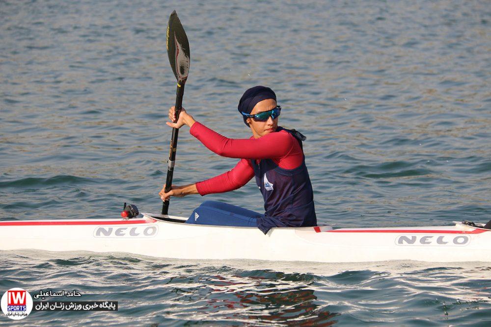 هدیه کاظمی 1000x667 گزارش تصویری   تمرین تیمهای ملی قایقرانی رویینگ و آبهای آرام بانوان