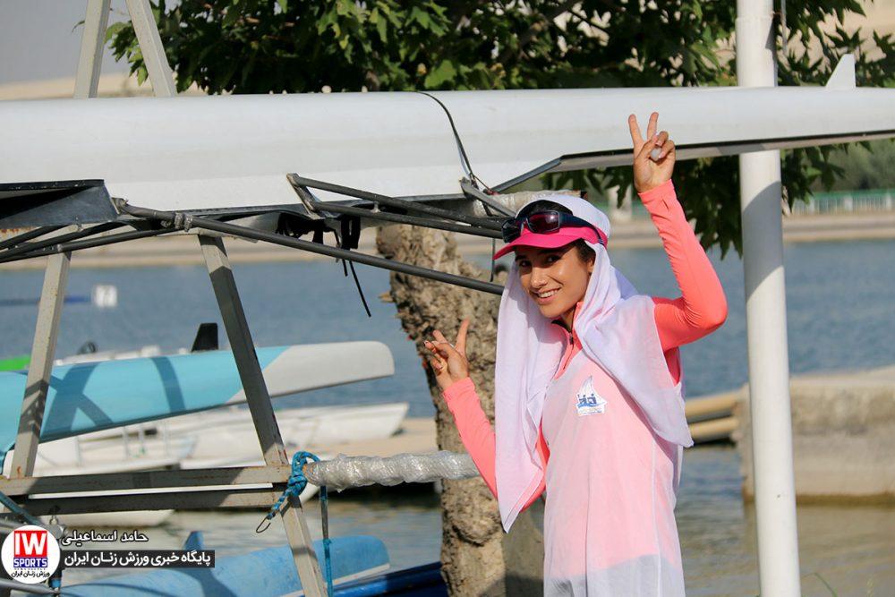 کیمیا زارعی در تمرین تیم ملی قایقرانی رویینگ بانوان 1000x667 گزارش تصویری   تمرین تیمهای ملی قایقرانی رویینگ و آبهای آرام بانوان