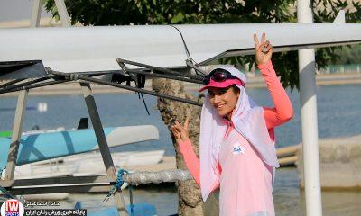 کیمیا زارعی در تمرین تیم ملی قایقرانی رویینگ بانوان 400x240 گزارش تصویری | تمرین تیمهای ملی قایقرانی رویینگ و آبهای آرام بانوان