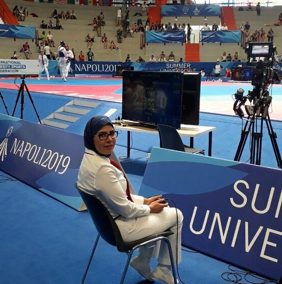 57908253 560x563 بدری اسدی، نخستین بانوی داوری ایران در بازیهای یونیورسیاد