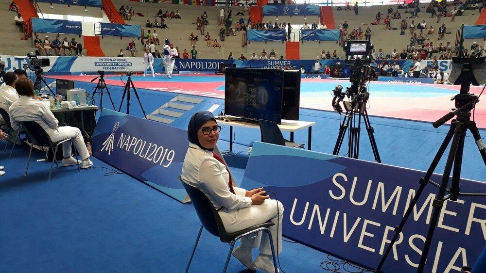 57908253 بدری اسدی، نخستین بانوی داوری ایران در بازیهای یونیورسیاد