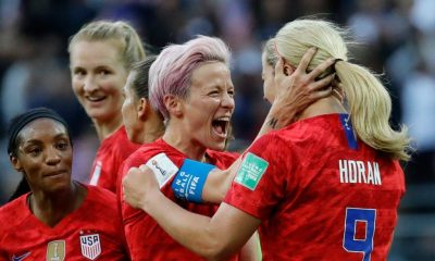 megan rapinoe مگان راپینو تیم ملی فوتبال زنان آمریکا 400x240 درباره مگان راپینو ؛ ستاره بی اعتنا به سرود ملی آمریکا